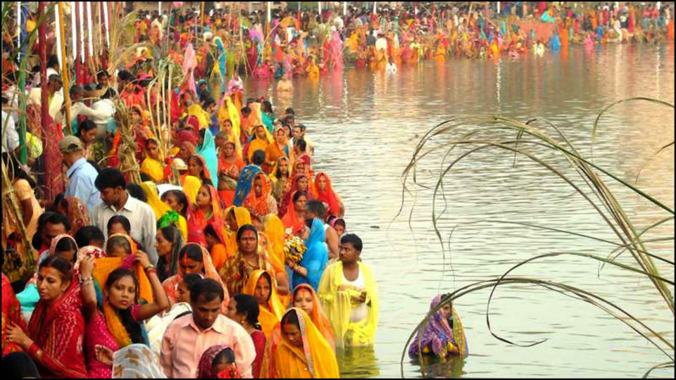 Chhath is the epicenter of worship and environmental protection