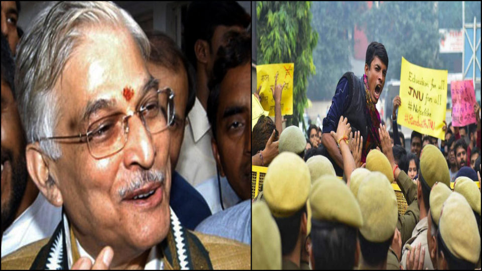 JNU accuses Delhi Police, Murali Manohar Joshi of BJP came out in support