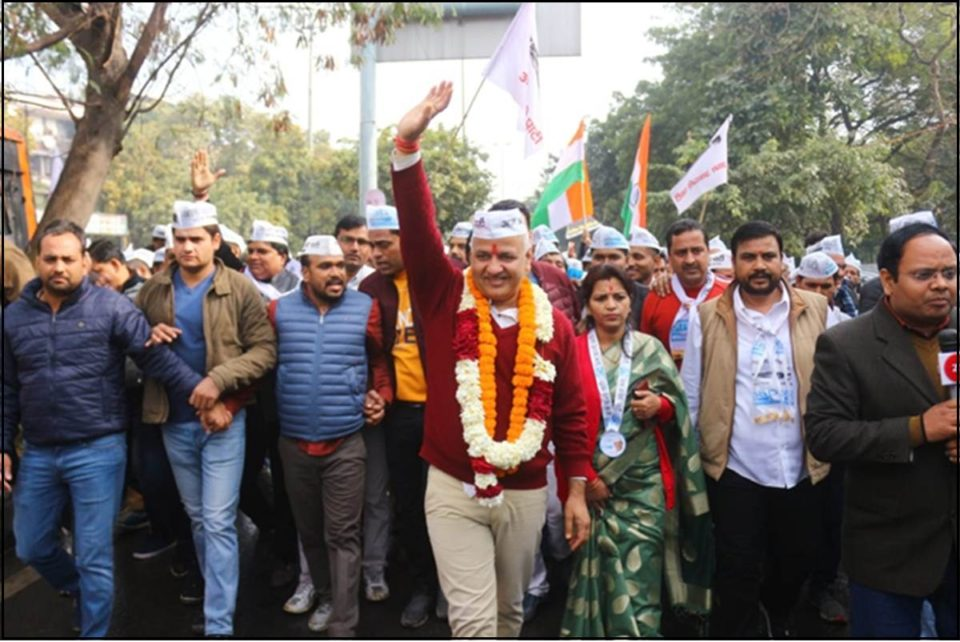 Sisodia's strength in rally, nomination filed from Patparganj